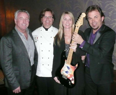 HeartGift auction winners with Chef Mark Bohanan and Jonathan Cain